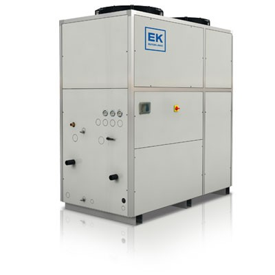 Stand alone glycol chiller on white background