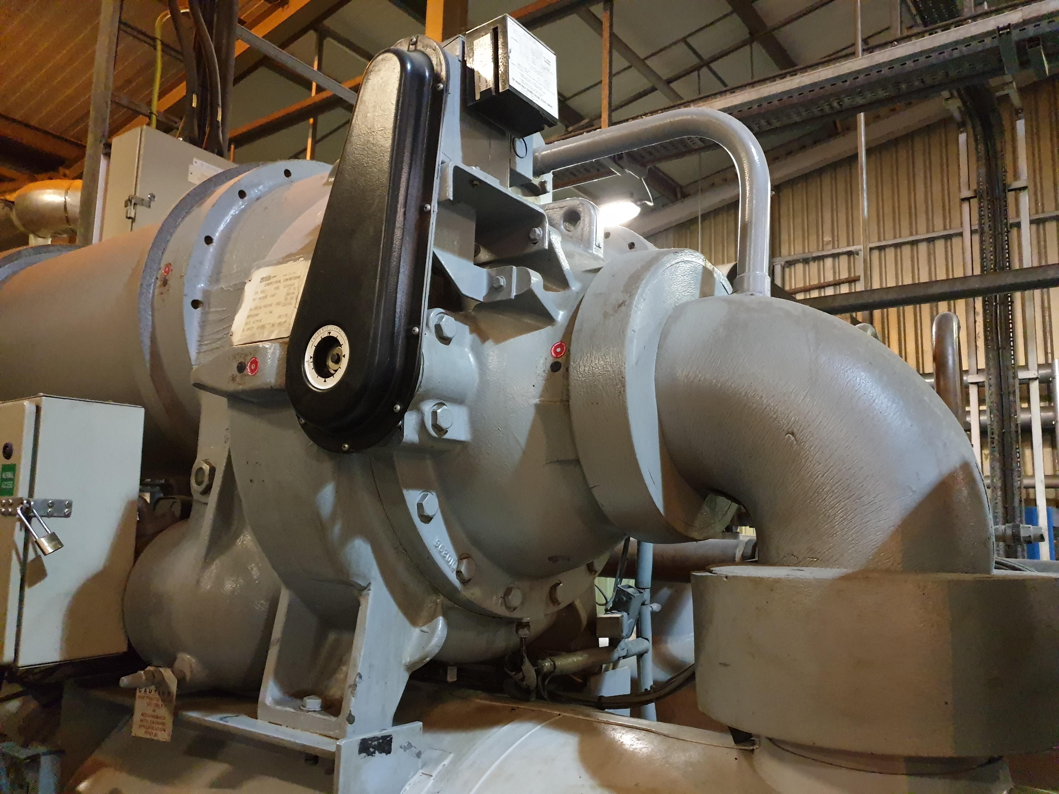 Centrifugal compressor rebuild of grey compressor in plant room