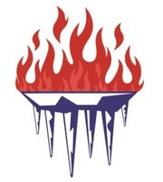 Maximus Chillers Flame Icicle Logo
