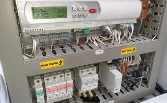 Carel controller showing R134a refrigerant readings during preventative chiller maintenance