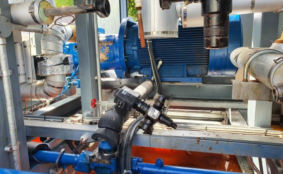 Oil return solenoid removed during industrial chiller service